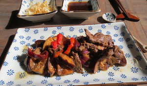 Bœuf et aubergines à la Japonaise