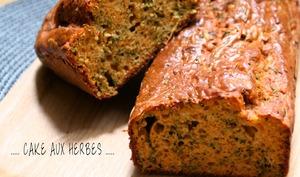 Cake pesto rosso et herbes fraiches