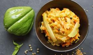 Achards de chouchou et patate douce