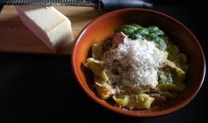 Tortellini aux lardons et aux champignons