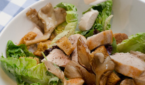 Salade Caesar aux pleurotes blancs