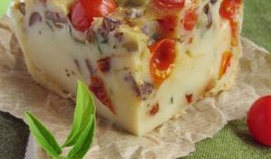 Far aux olives et aux tomates cerise et séchées