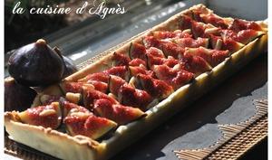 tarte aux figues et pignons à la crème de noisette