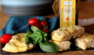 La foccacia à l'huile d'olive de Gontran Cherrier
