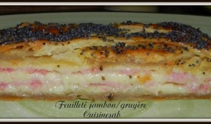 feuilleté jambon / gruyère -