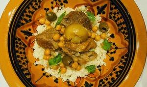 Tajine de veau aux citrons confits et olives