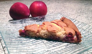 Gâteau fin framboises et nectarines