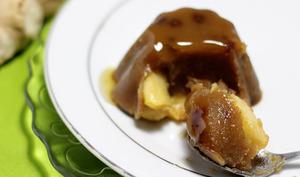 Pudding au sucre rapadura, pomme et gingembre