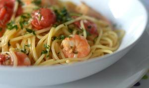 Spaghettis aux scampis