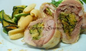 Cuisses de poulet farcies de courgettes épicées