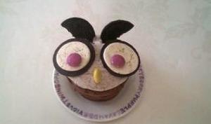 Chouettes-cupcakes aux Oreos