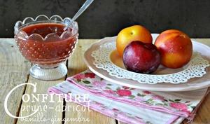 Confiture prunes abricots vanille gingembre
