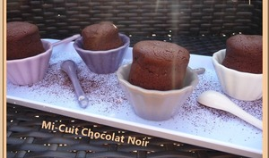 Mi-cuit chocolat noir