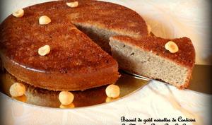 Biscuit de goût noisette d'après Philippe Conticini