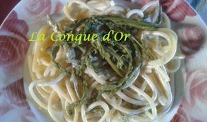 Spaghettis aux asperges sauvages