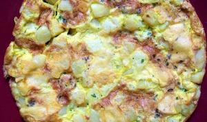 Frittata aux pommes de terre, Galbanino et persil