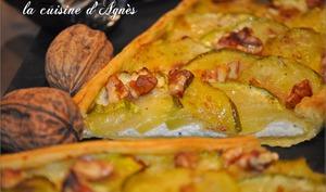 tarte ricotta courgettes aux noix
