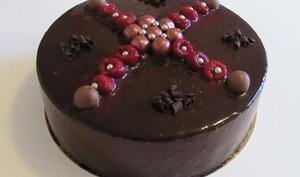 Entremet chocolat - framboise