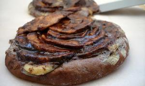 la tarte fine aux pommes chocolatées et camembert