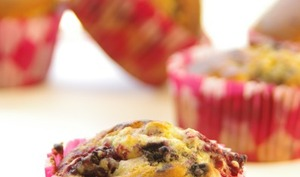 Muffins au citron et aux fruits rouges