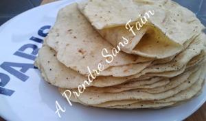 Tortillas de blé fait maison