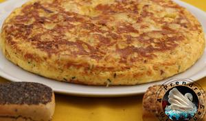 Tortilla espagnole aux pommes de terre et lardons fumés