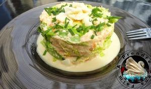 Salade de miettes de crabe à la mayonnaise au gingembre