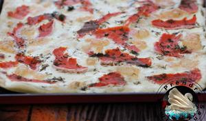 Pizza au saumon fumé