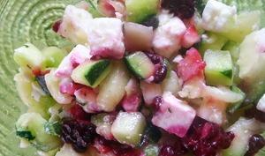 Salade de courgette, feta & mûres