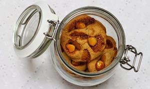 Cookies aux noix de macadamia caramélisées
