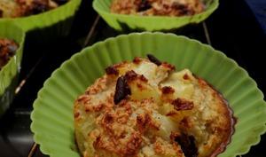 Muffins moelleux à l'avoine Poire-Chocolat
