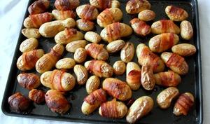 Pommes de terre grenaille au lard fumé et herbes de Provence