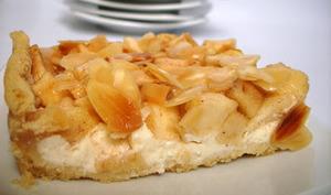 tarte aux pommes et au fromage