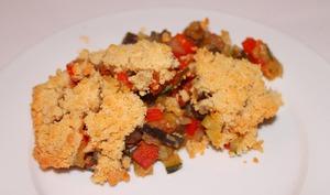 Crumble de ratatouille au parmesan