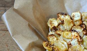 Fausses Chips de Radis noir au Paprika fumé
