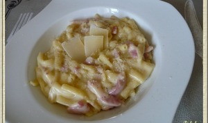 Macaroni à la carbonara façon risotto
