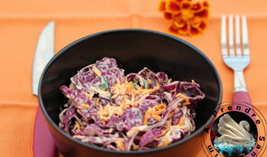 Salade coleslaw de chou rouge