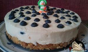 Cheesecake myrtilles chocolat blanc sans cuisson