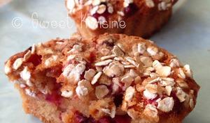 Les muffins légers aux canneberges fraîches
