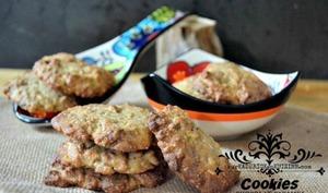 Cookies amandes chocolat caramel et son d'avoine
