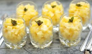 Tartare d'ananas au gingembre
