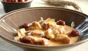 Collier de veau sauté aux olives