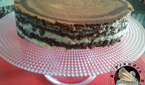 Gâteau marbré vanille, chocolat, orange