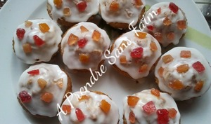 Cupcakes aux fruits confits