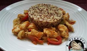 Poulet basquaise au quinoa et boulgour