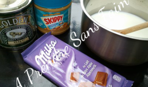 Sauce au chocolat au lait et au beurre de cacahuètes