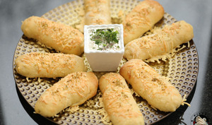 Breadsticks au saumon fumé