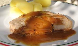 Rôti de porc au pommeau de Normandie