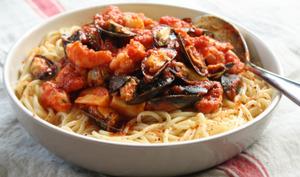 Spaghetti aux fruits de mer