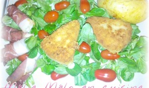 Reblochon pané et sa salade